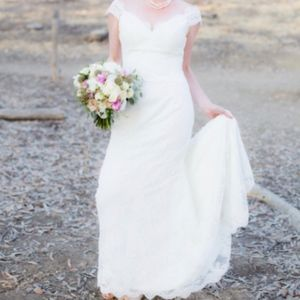 Romantic Wedding Dress-Fit and Flare, Vintage lace